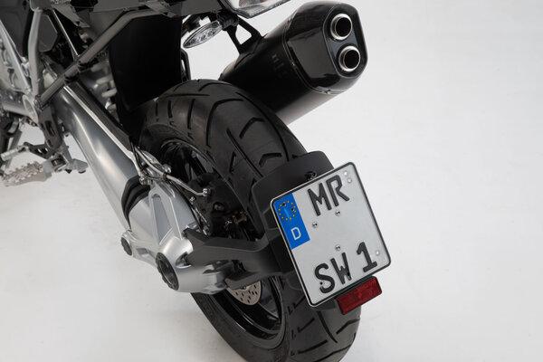 Kennzeichenträger Schwarz. BMW R 1200 GS (13-).