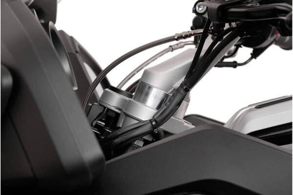 Réhausseur de guidon h=25 mm. Gris. BMW R 1200 RT (05-).
