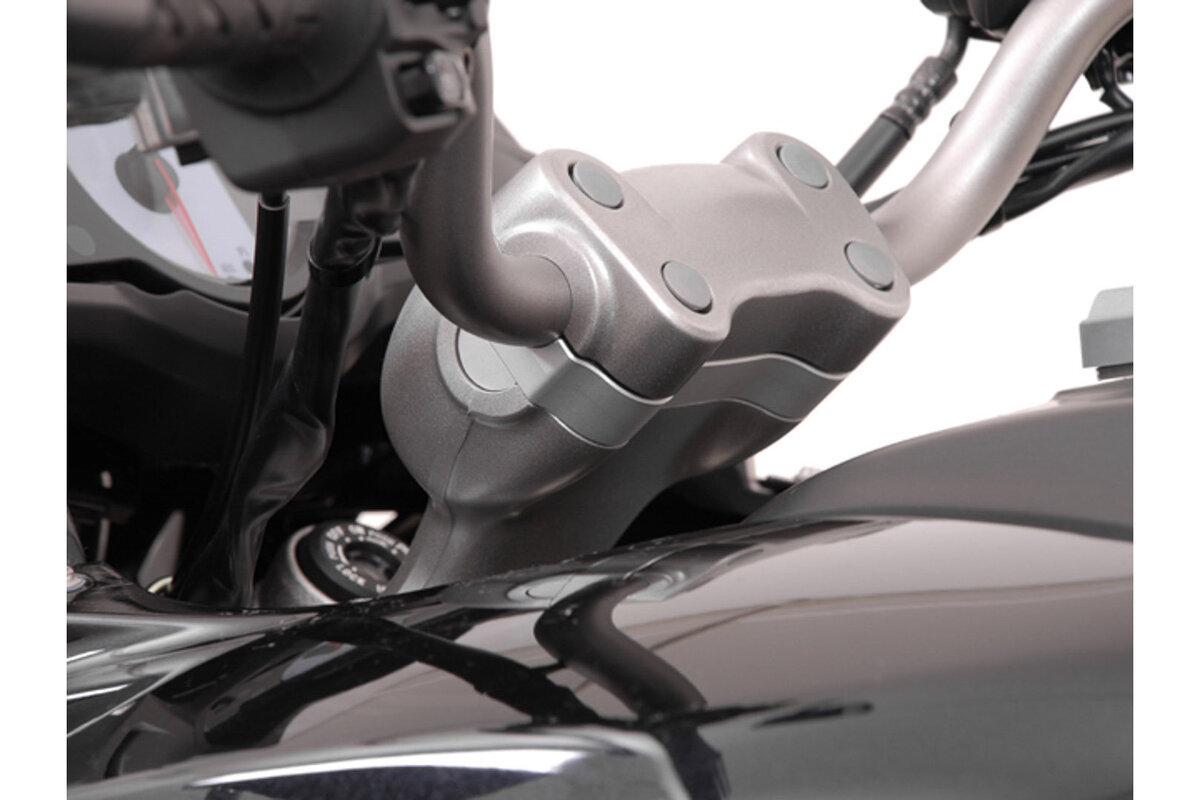 17 schwarz LE650E Lenkererhöhung 25mm für Kawasaki Versys 650 SE