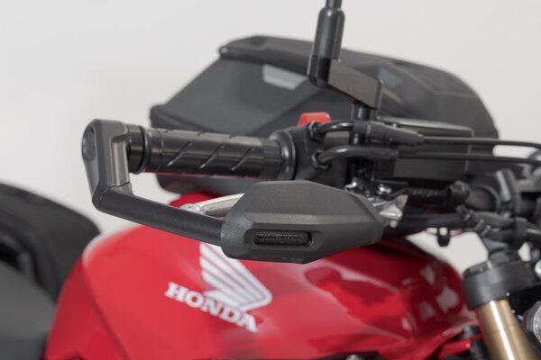 Hebelschützer mit Windabweiser Schwarz. Honda CB650R (18-).