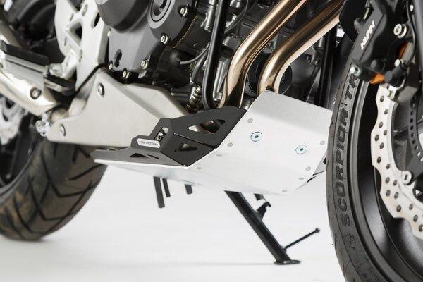 Motorschutz Schwarz/Silbern. Honda CB500X (13-18).