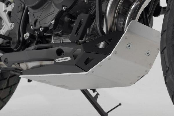 Engine guard Black/Silver. Honda CB500X (18-).