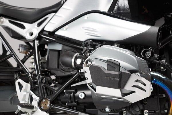 Protection de cylindre Gris. BMW R1200 R / GS / Adv, R nineT.