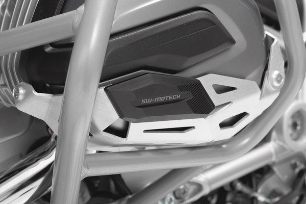 Protector de cilindro Negro/Plateado. Modelos BMW R 1200 (13-).
