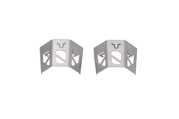 Schutz für EVO Scheinwerfer Silbern. Mit graviertem Bullen-Logo.