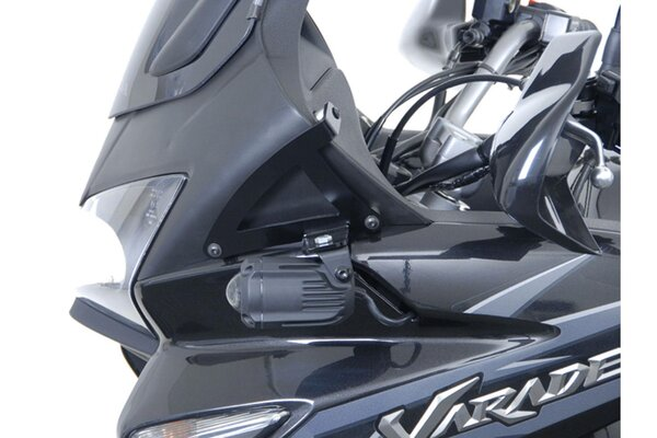 Support pour feux additionnels Noir. Honda XL1000V Varadero (01-11).