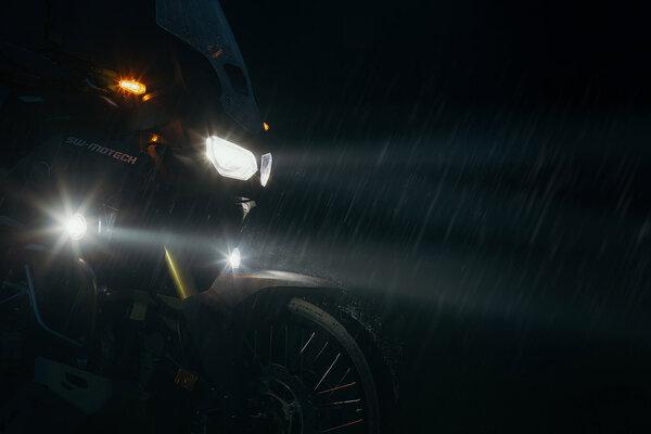 EVO Nebelscheinwerfer-Kit Schwarz. Honda CB500X (13-18).