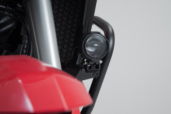 EVO Fernscheinwerfer-Kit Schwarz. Honda CRF1000L/CRF1100L mit Sturzbügel.