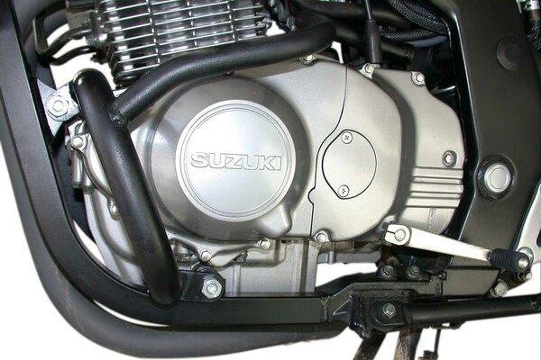 Protecciones laterales de motor Negro. Suzuki GS 500 E (89-06).