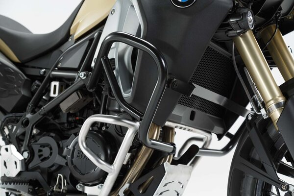 Protecciones laterales de motor Negro. BMW F 800 GS Adventure (13-).