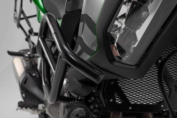 Barra di protezione motore Nero. Kawasaki Versys 1000 (18-).