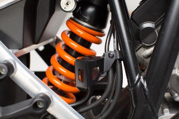 Protector del depósito de líquido de frenos Negro. KTM 1050/1090/1190 Adv,1290 SAdv.