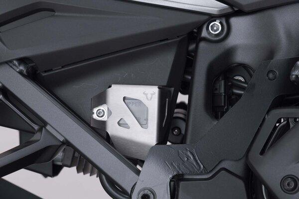 Bremsflüssigkeitsbehälter-Schutz Silbern. Suzuki DL1000, Honda CRF1000L/1100L.