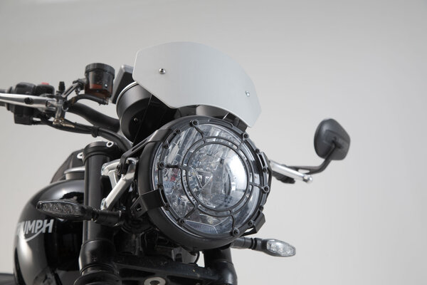 Windschild Silbern. Triumph Speed Twin 1200 (18-).