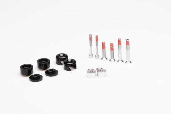 Kit STORM S7 pour protège-mains Barkbusters Noir. Noir. Extrémité de la barre filetée 6/8 mm.