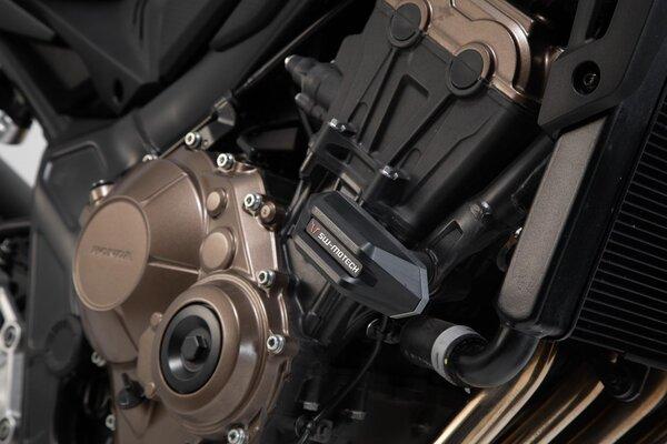 Sturzpad-Kit Schwarz. Honda CB650R (19-).