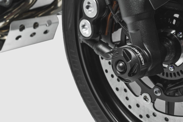 Slider set for front axle Black. Yamaha MT-09/Tracer (16-), Tracer 900GT.