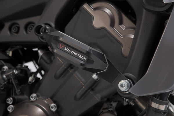 Slider set for frame Black. Yamaha MT-09/Tracer, XSR900/Abarth.