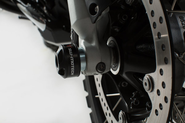 Roulettes de protection de fourche Noir. BMW R 1200 GS / RT, R 1250 GS / RT.