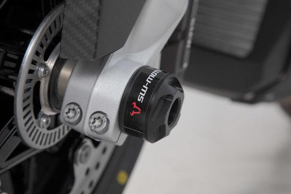 Roulettes de protection de fourche Noir. BMW S 1000 R (13-)/ RR (15-)/ XR (19-).