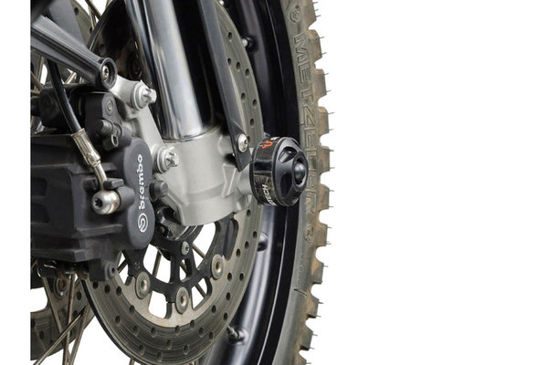 Slider set for front axle Black. BMW F 800 GS / F 800 GS Adventure.