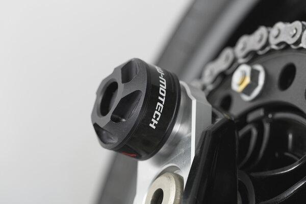 Kit de tope anticaidas para el eje trasero Negro. BMW modelos. Husqvarna Nuda 900.