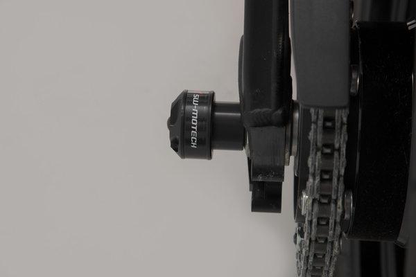 Sturzpad-Kit für Hinterachse Schwarz. S1000R (13-), F750GS, F850GS/Adv (18-).