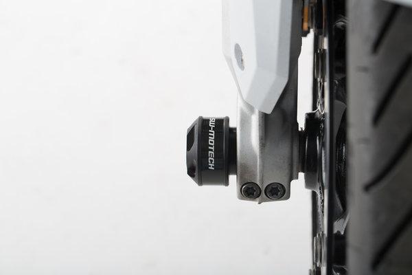 Slider set for front axle Black. BMW F800R / R1200 / R1250 / S1000XR.