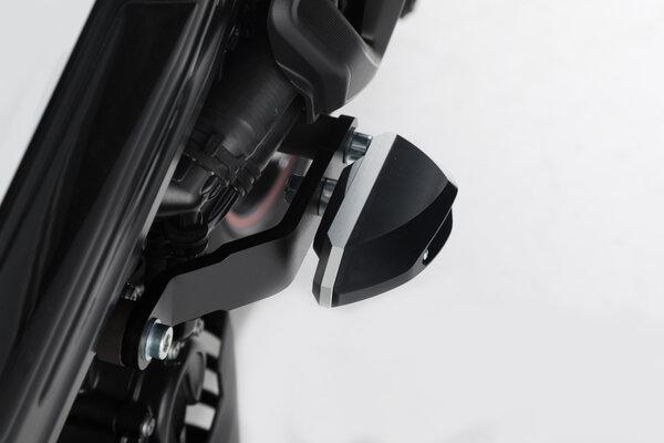 Slider set for frame Black. BMW F 800 R (15-).