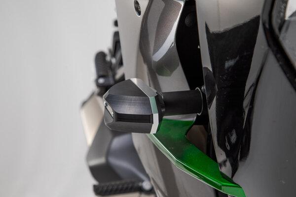 Sturzpad-Kit Schwarz. Kawasaki Ninja H2 SX (17-).
