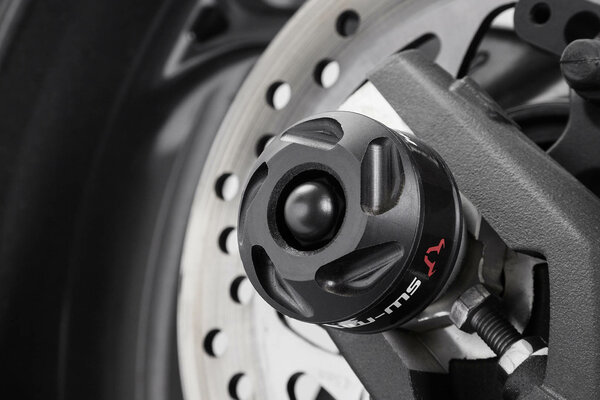 Slider set for rear axle Black. Street Triple (12-) / Rx, Daytona (15-).