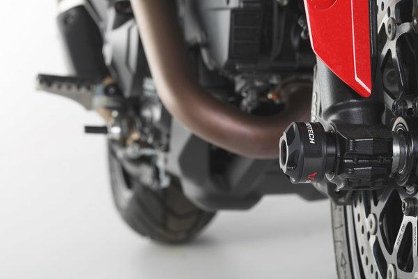 Roulettes de protection de fourche Noir. Modéles Ducati.