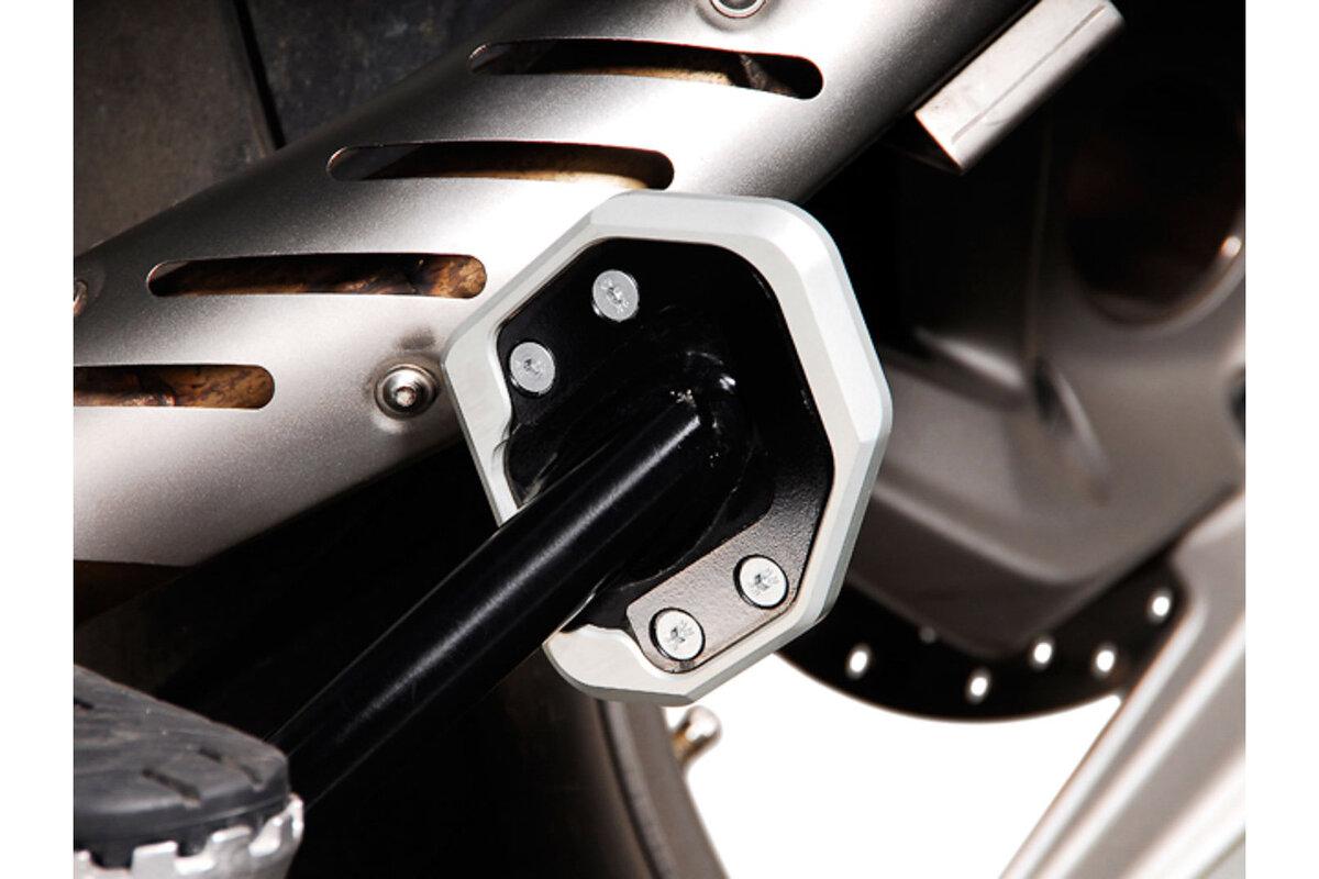 BMW R1200GS R1200GS Sw-Motech Seitenständerfuß-Verbreiterung Schwarz//Silbern
