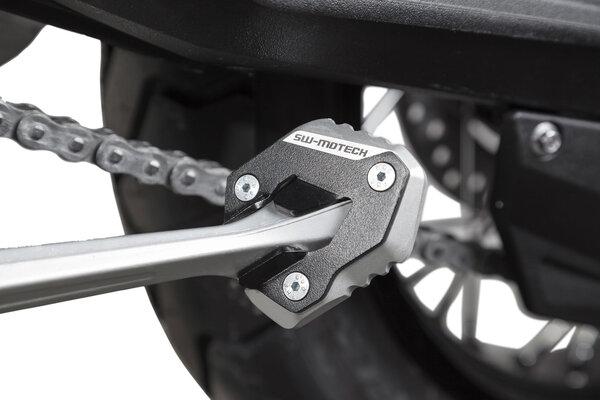 Extension de pied de béquille latérale Noir/Gris. Modéles Triumph Tiger 800 (10-17).