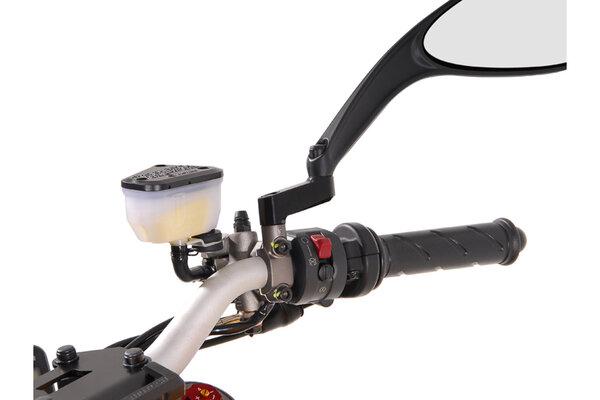 Extensión de retrovisor Universal. Negro. Ducati. Derecha/Derecha. M8x1,25