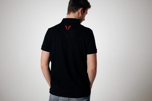 Team Polo-Shirt Core Line. Schwarz. Herren. Größe 2XL.