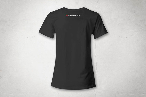 T-Shirt Core Line. Schwarz. Damen. Größe S.