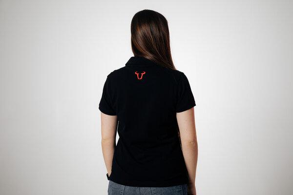 Team Polo-Shirt Core Line. Schwarz. Damen. Größe XL.