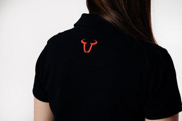 Team Polo-Shirt Core Line. Schwarz. Damen. Größe 2XL.
