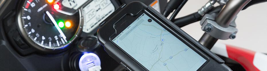 Smartphone Hardcase Für Das Motorrad Cockpit Sw Motech